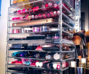 collection, cosmetics, and make up storage image