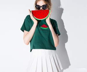 outfit, watermelon, and cute image