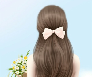 art girl, background, and beauty image