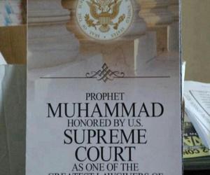 prophet muhammad p.b.u.h and u.s supreme court image