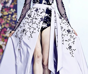 dress, haute couture, and floral image