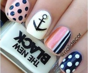 nails, cute, and anchor image