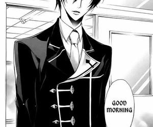 anime, manga boy, and black and white image