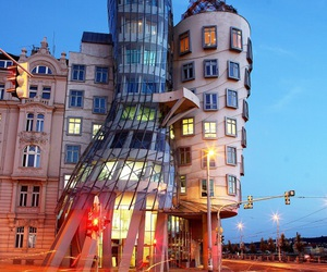 city, prague, and dancing house image