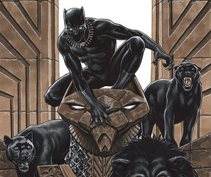 black panther, comic, and Marvel image