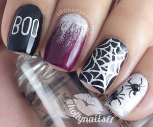 nails, Halloween, and boo image