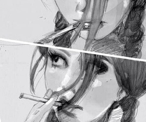 smoke, cigarette, and art image