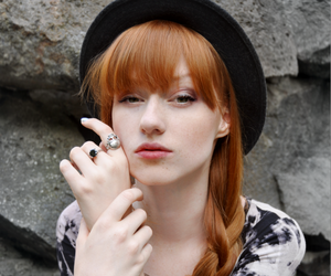 beautiful, red hair, and freckles image