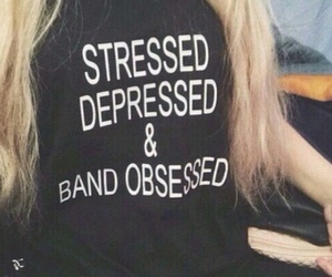 band, depressed, and stressed image