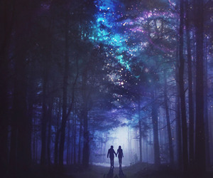 Darkness, stars, and love image