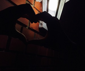 dark, friends, and heart image