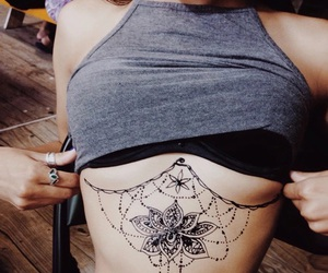 dope, tattoo, and breast tattoo image
