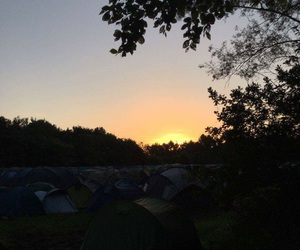 camping, festival, and fun image