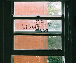 quotes, joy division, and window image