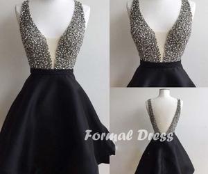 dress, prom dress, and prom dress black image