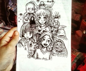 art, chihiro, and doodle image