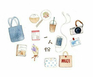 anime, art, and bag image