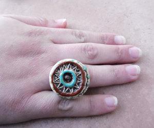 etsy, flower ring, and mandela image