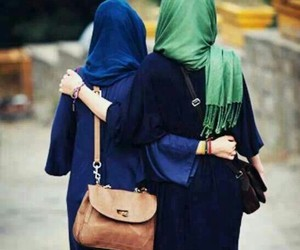 hijab, friends, and islam image