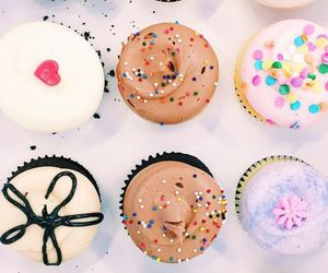 food, cupcakes, and chocolate image