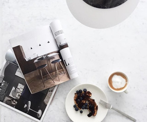 coffee, food, and magazine image