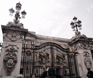Buckingham palace, king, and kingdom image
