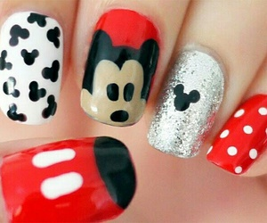 nails, mickey, and red image