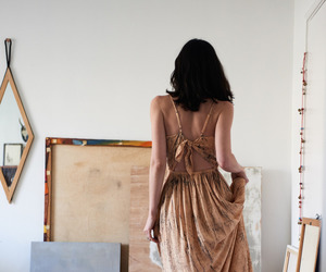 art, girl, and dress image