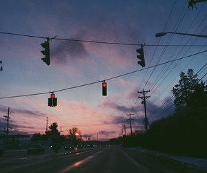 sky, sunset, and grunge image