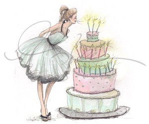 birthday, cake, and drawing image