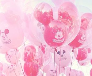 balloons, disney, and pink image