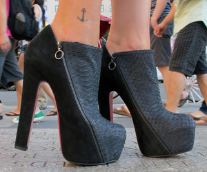 shoes, tattoo, and heels image