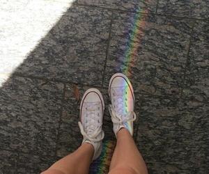 rainbow, converse, and grunge image
