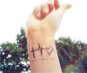 tattoo, love, and faith image