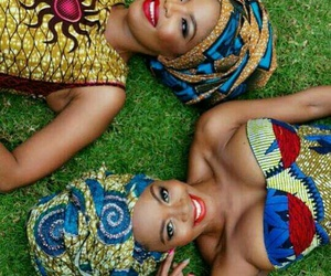 glamour, african beauty, and pagne image