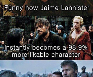 game of thrones, jaime lannister, and nikolaj coster-waldau image