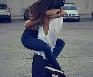 couple, love, and hug image