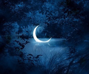 blue, house of night, and moon image