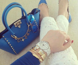 blue, high heel, and shoes image