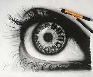 clock, art, and draw image