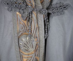 embroidery, fashion, and grey image