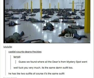 dean winchester, funny, and supernatural image