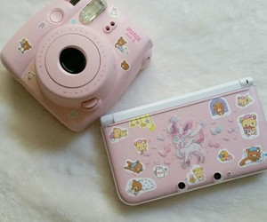 pink, camera, and pale image