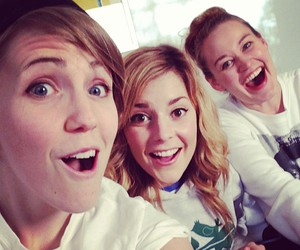 grace helbig, hannah hart, and mamrie hart image