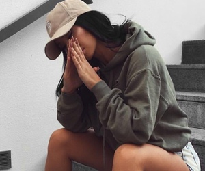 girl, khaki, and outfit image