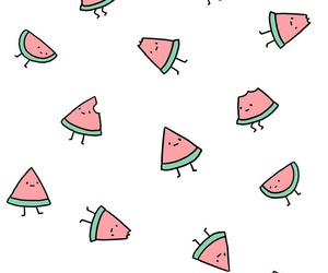 background, watermelon, and drawing image