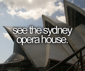 Sydney, before i die, and opera house image