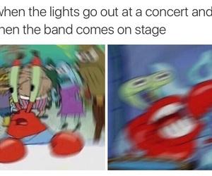 band, lights, and funny image