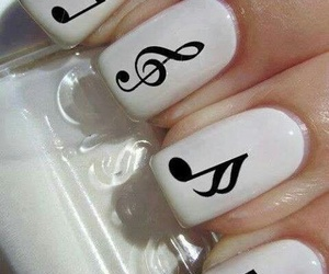 nails, music, and white image