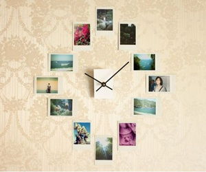 clock, diy, and photo image